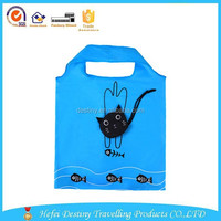 2015 Hot selling practical promotional new style nylon animal folding bag in pocket