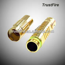Trustfire最高品質z105メモリモードr2xp-eled銅- メッキハイパワーled懐中電灯ミニによってパワークリー族led( 1*10440)
