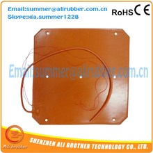 Flexible Silicone Rubber Heater Silicone Heater Rectangle Fixed Holes