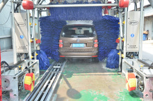 12Brushes Tunnel, Brush Car Wash, Tunnel Car Wash Equipment GT-R800 49000USD 12Brushes Wheel Wash Chassis Washing Polish