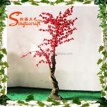JAPANESE silk small artificial lucky cherry blossom tree decor flower inimum Orderindoor wedding cherry blossom tree for sale