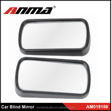 New Black Frame Wide Angle Convex Rear Side View Blind Spot Mirror for Car