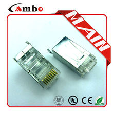 Lowest price Cat5e CAT6 CAT7 Stranded Solid network cable 8P8C shielded Gold Plated rj45 to rj11 adapter