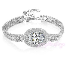 wedding gift wholesale elegant cubic zirconia watch gold clasp chain bracelets