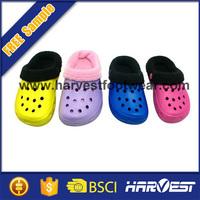 2015 wholesale custom baby warm clogs,eva clog for winter