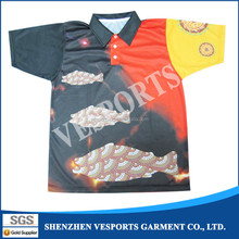 Fashion style striped wholesale polo shirt unisex