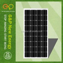 high efficient 130w 18v pv photovaltaic monocrystalline solar panel for sales
