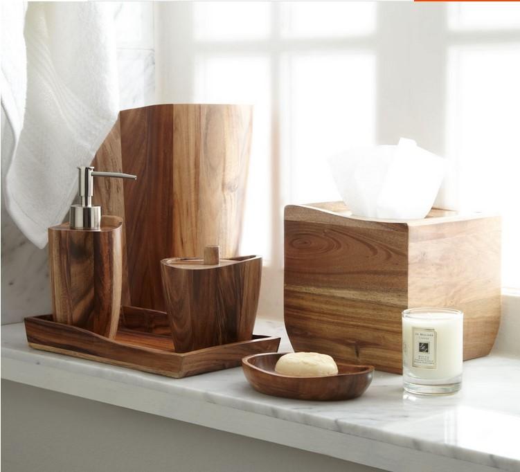 acacia hout badkamer accessoires 7 stuk badkamer voor spa leuke, Badkamer