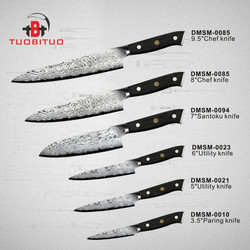 Black Pakka Wood Handle VG 10 Damascus Kitchen Knife