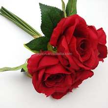red rose fake flowers wedding bouquet