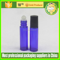 10ml Blue Glass Roller Ball Bottle With Plastic Cap For Essential Oils