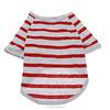 wholesale plain dog t-shirts , Red Stripe dog clothes , dog clothes china