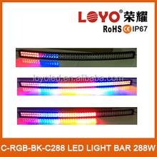 Energy saving RGB 288W flash light bar 50 inch car light led flash