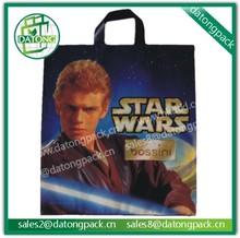 photo printed LDPE plastic bag supplier china, PO carry plastic bag