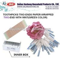 mp3 kinds of Sterile Toothpick, Paper Wrapped Toothpicks with Mint Flavor Paper Wrapped Toothpicks