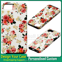 factory custom rose pattern Printing Shell pc+tpu Protective Case for iPhone 5s 6 6s mobile phone case