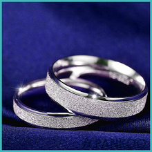 Romantic holidays 925 sterling silver Scrub couple rings