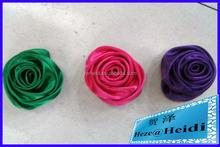 Cetim flores de tecido para vestido de noiva