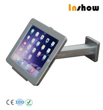 Anti-theft kiosk countertop mount for iPad air/ tablet desk lock holder /hands free design foot hold support housing metal case