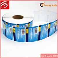 free sample custom polyester cartoon label/sticker