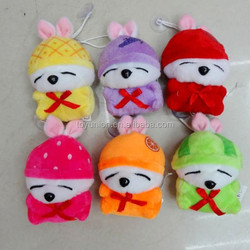 6 colors mixed fruit styles stuffed toy rabbit wholesale