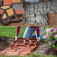 2015 DIY Hand-Make Plastic Concrete Paving Molds For Garden Concrete Molds
