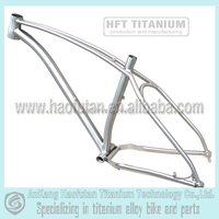 GR9 Titanium fat bike frame with internal cable housing