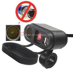 2015 Newest Waterproof Motorcycle scooter mobile dual USB Cigarette Lighter Power Port Outlet Socket 5V/2.1A+1A