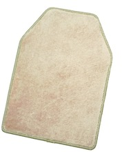 Rubber Carpeted 5 Piece Mat With Vinyl Heel Pad