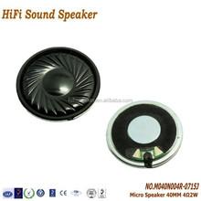 4 ohm 2W 40mm Mylar Speaker for Mobile Phone
