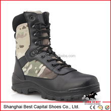 Black Special Military Tactical Army Boots/tactical gear/hot weather ABU tactical side zip boots