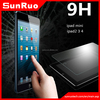 2015 HOT!newest tablet 9H anti fingerprint clear gold 0.3mm tempered glass screen protector for ipad mini 4