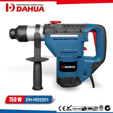 750W 32mm electric rotary hammer drill with Magnesium gear box