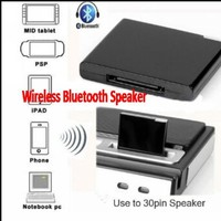 Free shipping Bluetooth A2DP Music Receiver Audio Adapter for ipad Phone 30Pin Dock Speaker