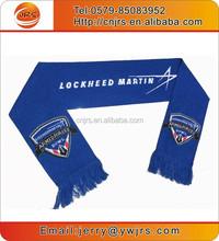 2015 promotional jacquard knit high quality 100% acrylic scarf