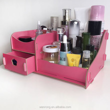 Diy manual wooden cosmetics store content drawer cartridges desktop receive a box of college girls dormitory receive Creative de
