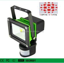 10W Motion Sensor LED Flood Light, Portable Flood Light, Samsung li-ion Battery, rechargeable, Bridgelux LED Chips