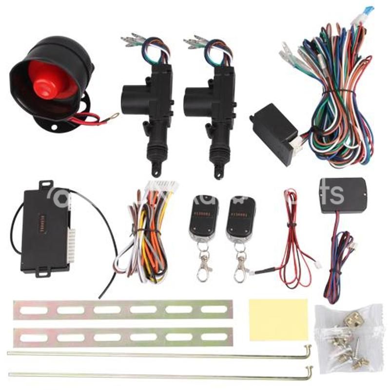 1 Set Door Remote Control Keyless Entry Central Lock Locking Kit + Car Alarm + Ribbon Kit + Central Gun