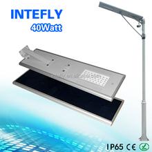 INTEFLY high quality solar dc 12v led street light 40w