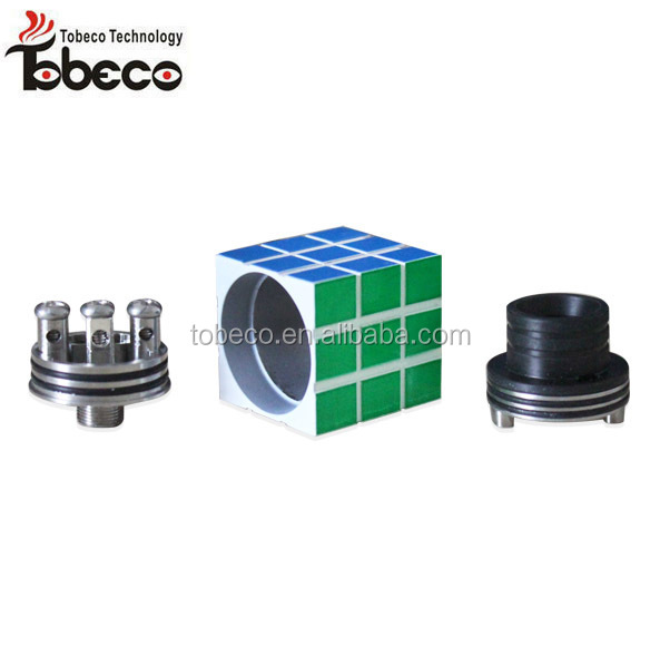 tobeco authentic cool structure tank atomizer square rubik rda atomizer