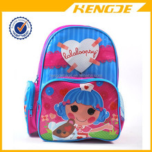 Lovely kids school bag with pvc printing vivid nurse picture girls