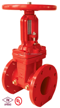 FM UL 200PSI fire protection flange Gate Valve outside screw and yoke type