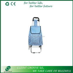 Foldable shopping trolley