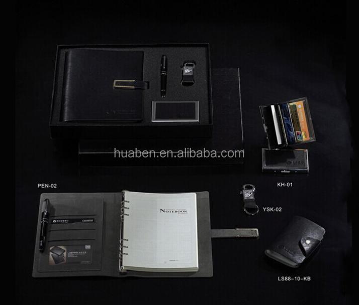2017 personalizado da lona e pu notebook de presente de aniversário