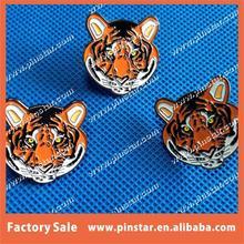 Factory Hot Sale Mini Animal Design Tiger Design Soft Enamel Custom Lapel Pin