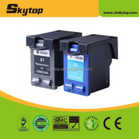 Hot product made in China Re-manufactured inkjet cartridge for hp 22 tri-color compatible ink cartridge C9531AA & C9532AA