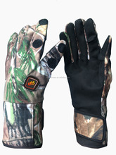 Battery Operated Hand Gloves For Bicycle Riding, Camo Heated Gloves