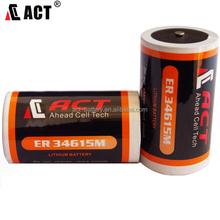14.5Ah ER34615M 3.6V lithium size D for alarm system
