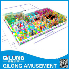 Large candy theme toy combined indoor soft china playground equipment