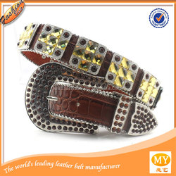 New design mens rhinestone belts for western cowboy